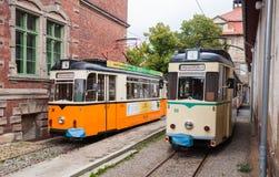 Vintage trolleys in Naumburg Royalty Free Stock Photos