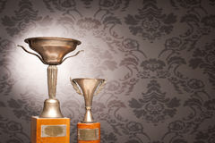 Vintage trophies Stock Photo