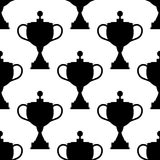 Vintage trophy cups seamless pattern Stock Photos