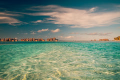 Vintage Tropical beach background Royalty Free Stock Photos