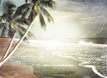 Vintage Tropical Beach Background Stock Photo