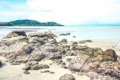 Vintage tropical beach Royalty Free Stock Photos