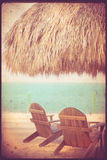 Vintage Tropical Beach Hut Royalty Free Stock Photo