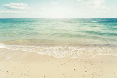Vintage tropical beach in summer Royalty Free Stock Photography