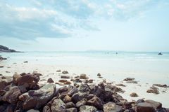 Free Vintage Tropical Coast Seascape In Summer. Landscape Of Seaside. Royalty Free Stock Photography - 88746427