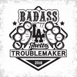 vintage troublemakers emblem Royalty Free Stock Photo