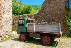 Vintage ancient classic truck stock image