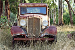 Vintage Truck. Vintage pick-up truck, abandoned in the Australian bush Stock Photography