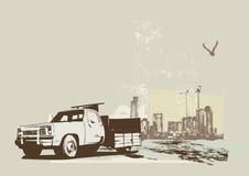 Vintage truck vector illustration