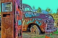 Vintage 55 truck Royalty Free Stock Images