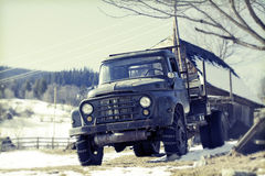 Vintage truck at contryside Stock Photo