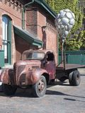 Vintage Truck in Distillery District, Toronto stock image