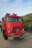 Vintage truck of Fire Brigade Stock Photos