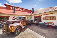 Vintage truck in front of the Lodge Canyon Roadhouse Royalty Free Stock Photos
