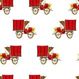 Vintage truck seamless vector pattern Royalty Free Stock Photography