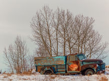 Vintage truck. On a winter's day Royalty Free Stock Photography