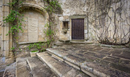 Vintage trujillo stone facade and stairs Stock Image