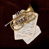 Vintage trumpet Stock Photos