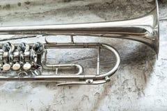 Vintage trumpet Stock Photos