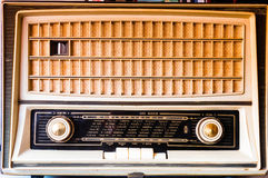 Vintage Tube radio front. Front view of vintage tube radio from sixties Stock Photos