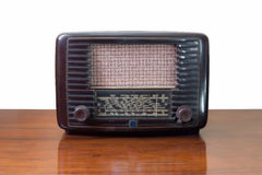 Vintage tube radio receiver Stock Images