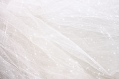 Vintage tulle chiffon texture background with glitter overlay. wedding concept.  Royalty Free Stock Photography