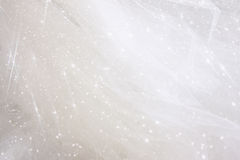 Vintage tulle chiffon texture background with glitter overlay. wedding concept Stock Photography