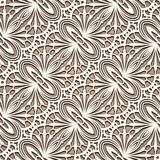 Vintage tulle ornament, seamless lace pattern Stock Photos