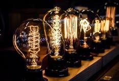 Vintage tungsten light bulbs Stock Photo