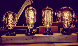 Vintage tungsten light bulbs Royalty Free Stock Images