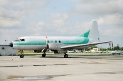 Vintage turboprop airplane Royalty Free Stock Images