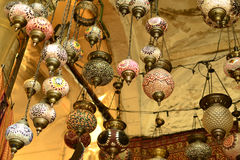 Vintage Turkish lamps Stock Images