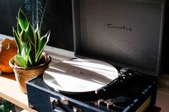 Vintage turntable Royalty Free Stock Photos
