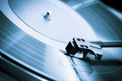Vintage turntable close-up Stock Photography