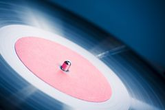 Vintage turntable close-up. Vintage turn table extreme close-up stock photos