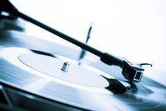 Vintage turntable close-up Stock Image