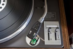 Vintage Turntable. Vintage Hi-Fi Stereo Turntable from 1970 Stock Image