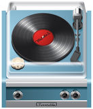 Vintage turntable icon Royalty Free Stock Images