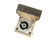 Vintage Turntable Portable Record Player Box Stock Photography