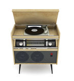 Vintage turntable with radio Stock Photos