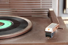 Vintage turntable from the seventies Royalty Free Stock Image