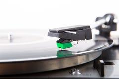 Vintage  turntable vinyl record player Stock Photo