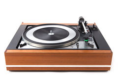Vintage  turntable vinyl record player Stock Photography