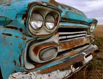 Vintage turquoise Chevy pickup truck Royalty Free Stock Photos