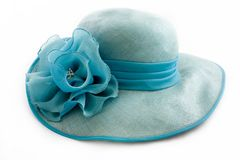 Vintage turquoise hat Stock Images