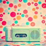 Vintage Turquoise Radio royalty free stock images