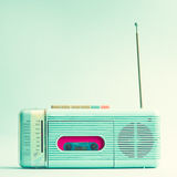 Vintage Turquoise Radio vector illustration