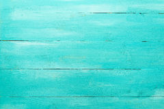 Vintage Turquoise Wood Board Background Royalty Free Stock Photos