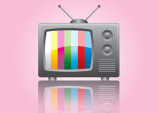 vintage tv vector illustration