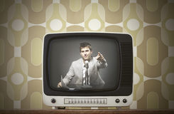 Vintage tv Royalty Free Stock Photos